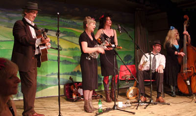 The Buffalo Gals on Four Marks stage