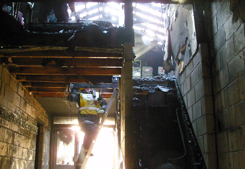 Medstead Village Hall fire - December 2009